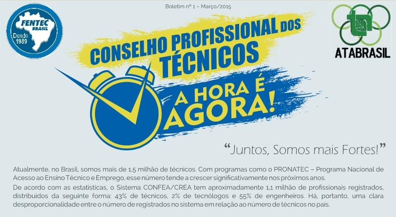 Veja todos os boletins sobre a criação do Conselho Profissional dos Técnicos na revista da Fentec